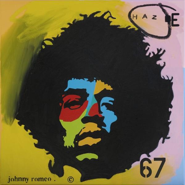 Johnny Romeo, Haze, 2012, acrylic and oil on canvas 71cm x 71cm