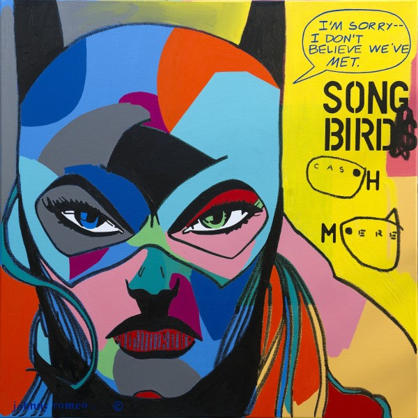 Johnny Romeo, Song Bird Cash Mere, 2013, acrylic and oil on canvas 101cm x 101cm