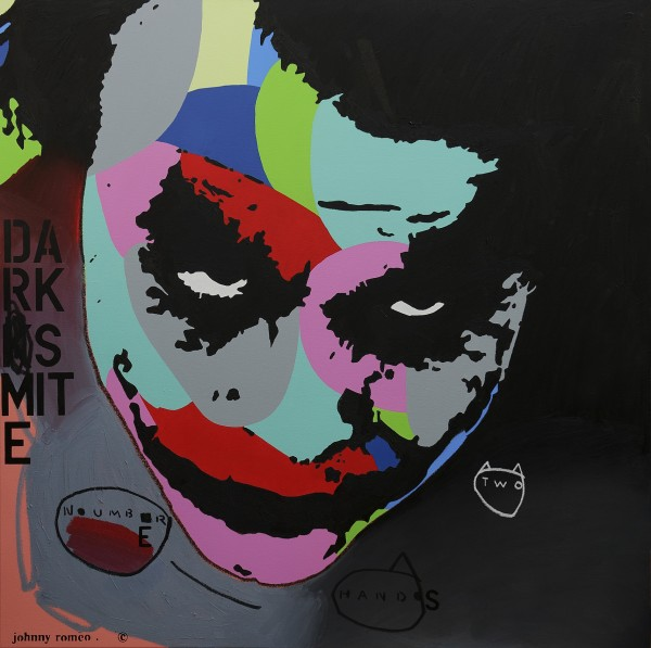 Johnny Romeo, Number Two Hands, 2013, acrylic and oil on canvas 150cm x 150cm
