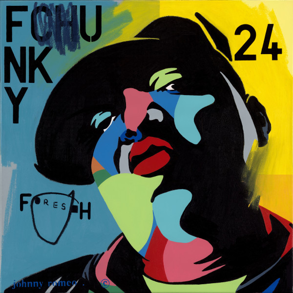Johnny Romeo, Funky Fresh, 2014, acrylic and oil on canvas 81cm x 81cm