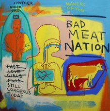 image johnny-romeo-bad-meat-nation-2007-acrylic-and-oil-on-canvas-101cm-x-101cm-jpg