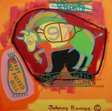 image johnny-romeo-bobby-my-prized-bull-2007-acrylic-and-oil-on-canvas-71cm-x-71cm-jpg