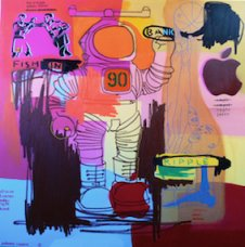 image johnny-romeo-fish-in-bank-ripple-2008-acrylic-and-oil-on-canvas-167-5cm-x-167-5cm-jpg