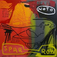 image johnny-romeo-spar-row-2008-acrylic-and-oil-on-canvas-101cm-x-101cm-jpg