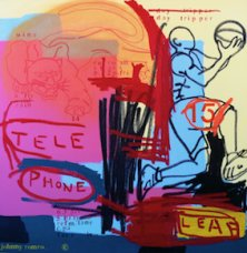 image johnny-romeo-tele-phone-leaf-2008-acrylic-and-oil-on-canvas-101cm-x-101cm-jpg