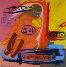 image johnny-romeo-yellow-revolver-2008-acrylic-and-oil-on-canvas-101cm-x-101cm-jpg