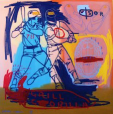 image johnny-romeo-grill-gorilla-2008-acrylic-and-oil-on-canvas-101cm-x-101cm-jpg