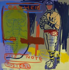 image johnny-romeo-leather-five-note-musical-2008-acrylic-and-oil-on-canvas-101cm-x-101cm-jpg