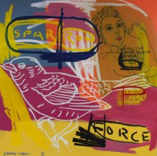 image johnny-romeo-spar-row-force-2008-acrylic-and-oil-on-canvas-101cm-x-101cm-jpg