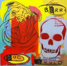 image johnny-romeo-berry-dog-skull-2009-acrylic-and-oil-on-canvas-61cm-x-61cm-jpg