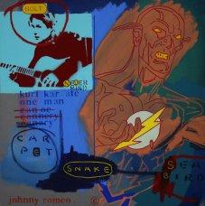 image johnny-romeo-carpet-snake-sea-bird-2009-acrylic-and-oil-on-canvas-61cm-x-61cm-jpg