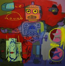 image johnny-romeo-little-red-hound-tv-2009-acrylic-and-oil-on-canvas-101cm-x-101cm-jpg