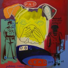image johnny-romeo-pad-dog-lead-2009-acrylic-and-oil-on-canvas-61cm-x-61cm-jpg