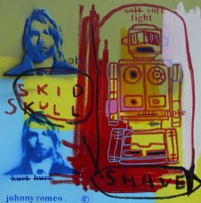 image johnny-romeo-skid-skull-shave-2009-acrylic-and-oil-on-canvas-61cm-x-61cm-jpg