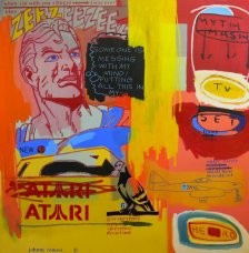 image johnny-romeo-myth-mash-tv-set-hero-2009-acrylic-and-oil-on-canvas-137cm-x-137cm-jpg