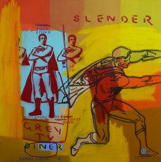 image johnny-romeo-slender-grey-tv-diner-2009-acrylic-and-oil-on-canvas-101cm-x-101cm-jpg