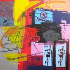 image johnny-romeo-stone-yellow-crab-2009-acrylic-and-oil-on-canvas-137cm-x-137cm-jpg