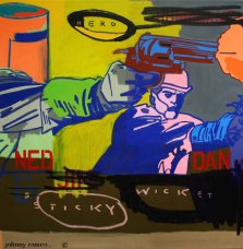 image johnny-romeo-hero-sticky-wicket-2010-acrylic-and-oil-on-canvas-101cm-x-101cm-jpg