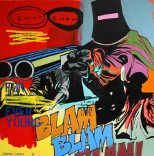 image johnny-romeo-shot-show-2010-acrylic-and-oil-on-canvas-120cm-x-120cm-jpg