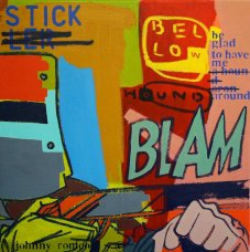image johnny-romeo-stick-bellow-hound-2010-acrylic-and-oil-on-canvas-61cm-x-61cm-jpg