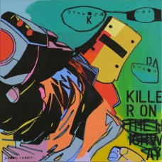 image johnny-romeo-stalker-cop-sped-2012-acrylic-and-oil-on-canvas-101cm-x-101cm-jpg