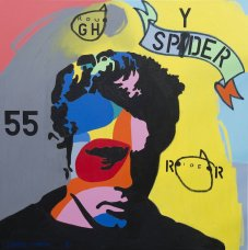 image johnny-romeo-rough-spyder-rider-2013-acrylic-and-oil-on-canvas-101cm-x-101cm-jpg