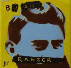 image johnny-romeo-bush-ranger-2010-enamel-acrylic-and-oil-on-canvas-25-5cm-x-25-5cm-jpg