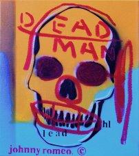 image johnny-romeo-dead-man-lead-2008-enamel-acrylic-and-oil-on-canvas-40-5cm-x-46cm-jpg