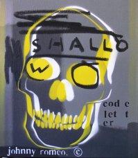 image johnny-romeo-shallow-code-letter-2008-enamel-acrylic-and-oil-on-canvas-40-5cm-x-46cm-jpg