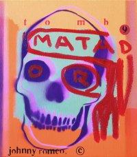 image johnny-romeo-tomb-matador-2008-enamel-acrylic-and-oil-on-canvas-40-5cm-x-46cm-jpg